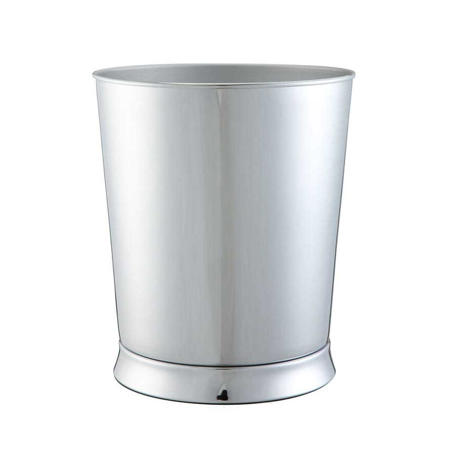allen + roth Brinkley Chrome Metal Wastebasket