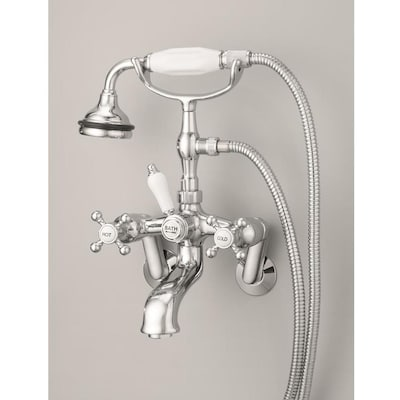 Brushed Nickel 3 Handle Shower Faucet.Cheviot Brushed Nickel 3 Handle Bathtub And Shower Faucet