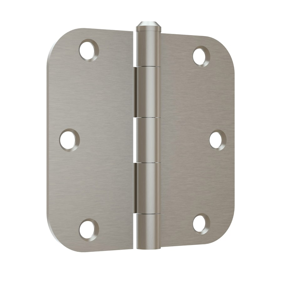 Gatehouse Satin Nickel 5 8 In Radius Mortise Door Hinge 12 Pack