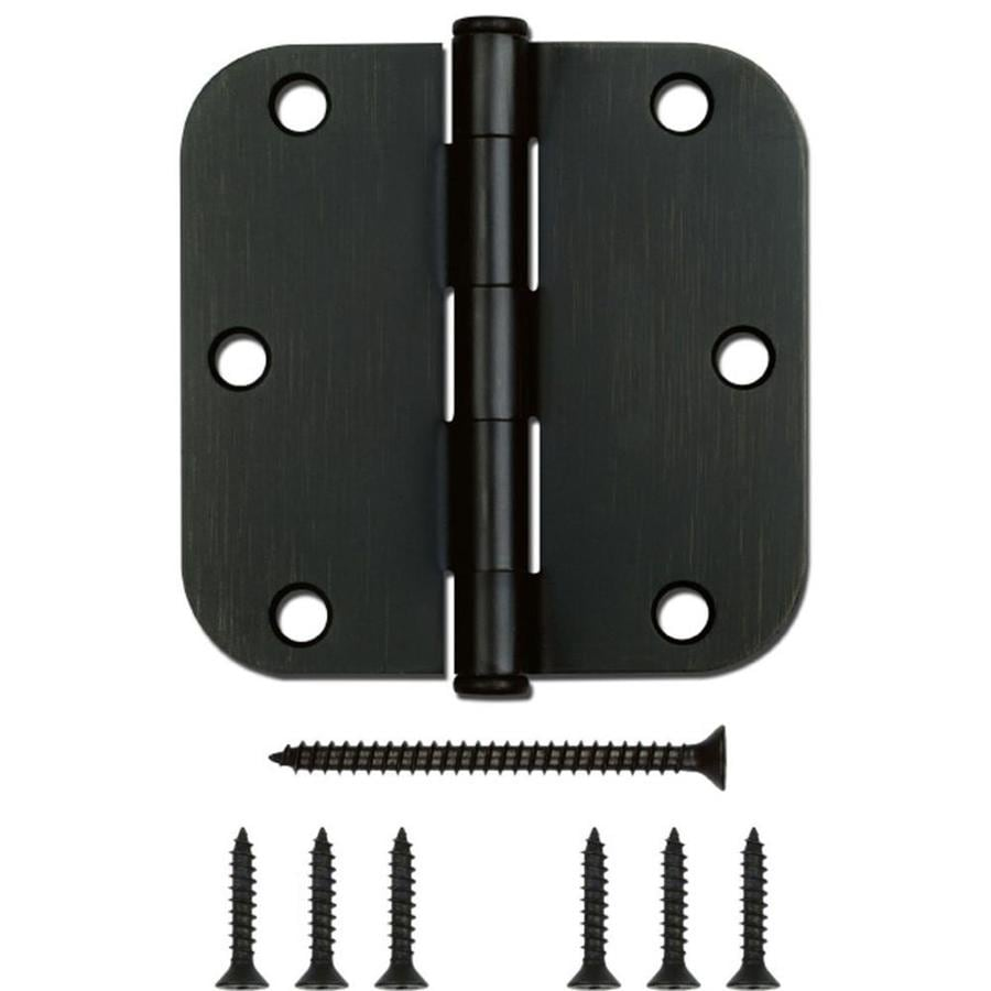 Gatehouse 3.5-in H Oil-Rubbed Bronze 5/8-in Radius Interior Mortise Door Hinge