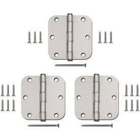 Gatehouse 3-Pack 3.5-in H Satin Nickel 5/8-in Radius