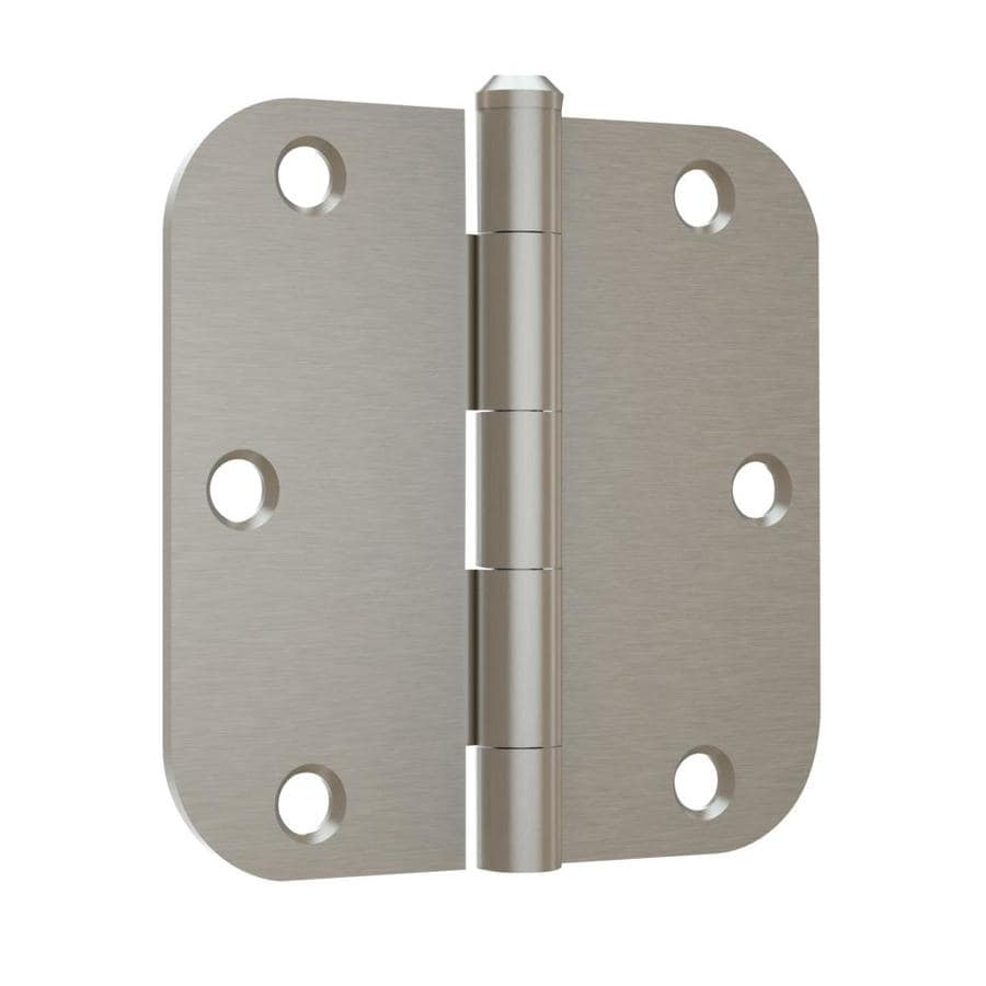 Gatehouse 3.5-in H Satin Nickel 5/8-in Radius Interior Mortise Door Hinge