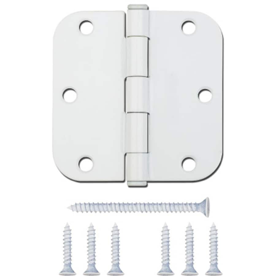 Gatehouse 3.5-in H White 5/8-in Radius Interior Mortise Door Hinge
