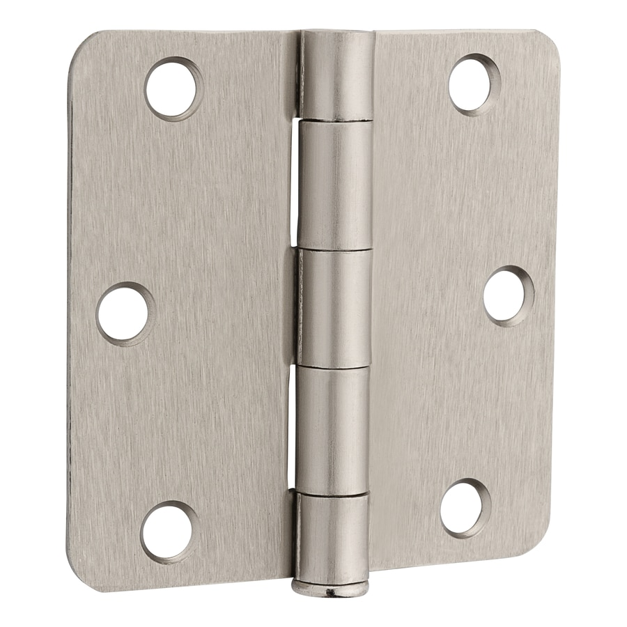 Gatehouse 3-in H Satin Nickel Radius Interior Mortise Door Hinge