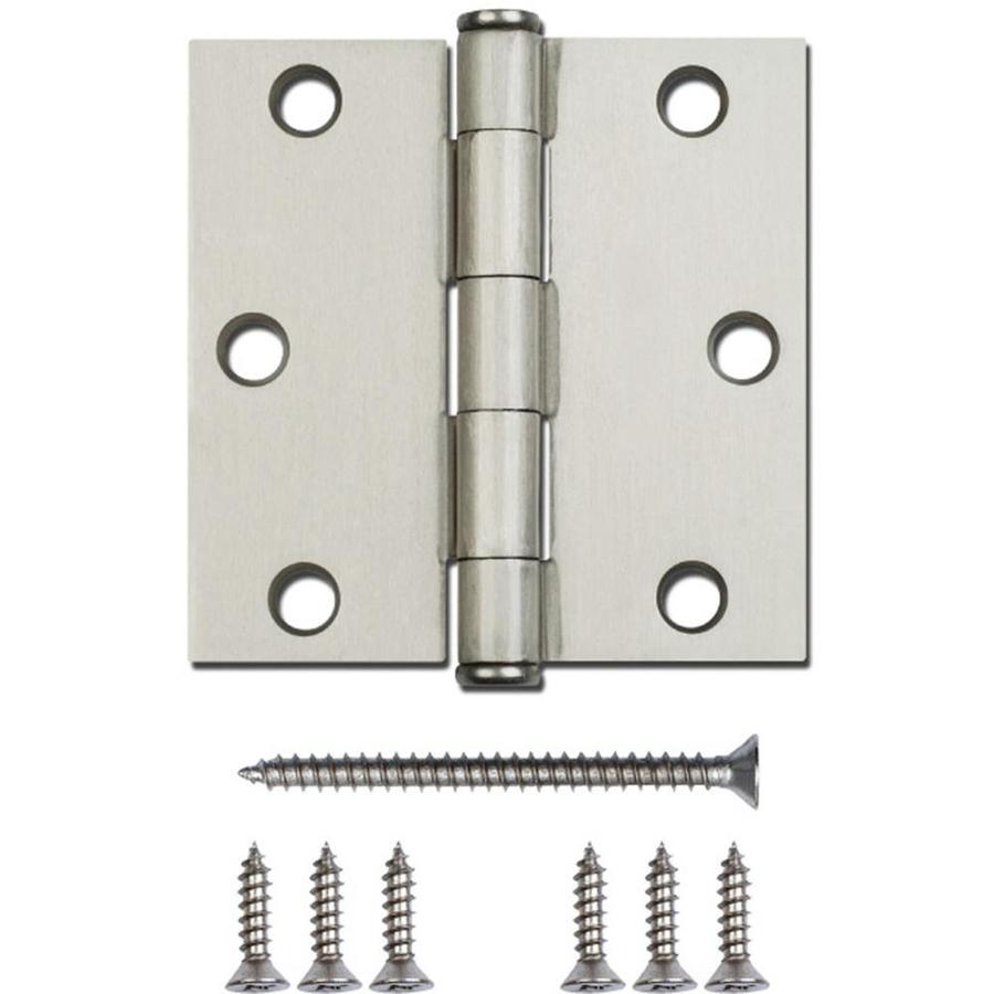 Gatehouse 3-in H Satin Nickel Interior Mortise Door Hinge