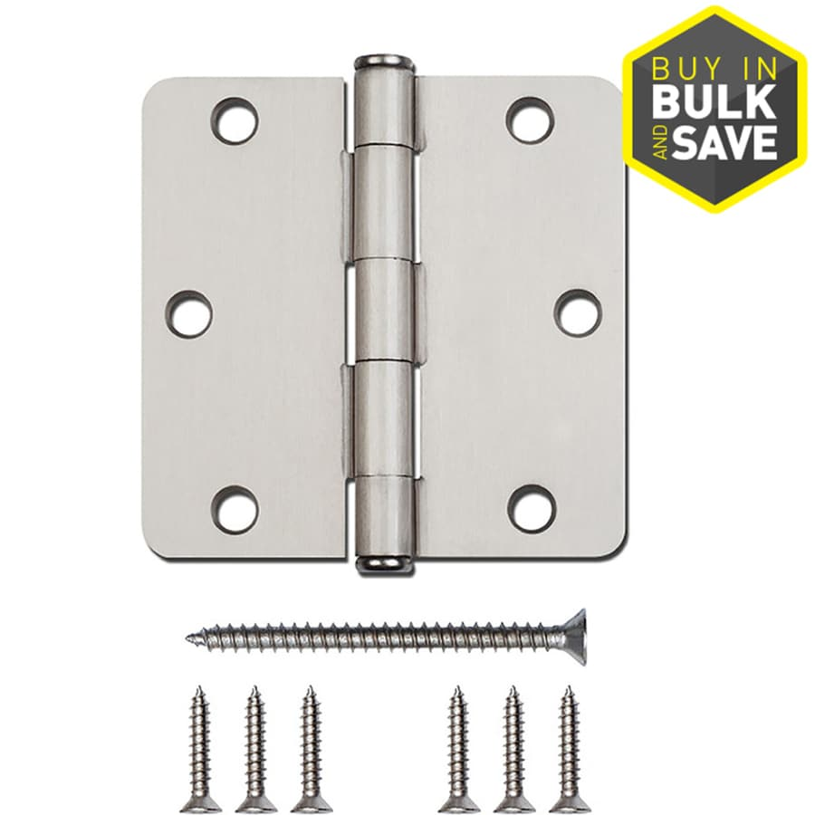 Gatehouse 3.5-in H Satin Nickel Interior Mortise Door Hinge