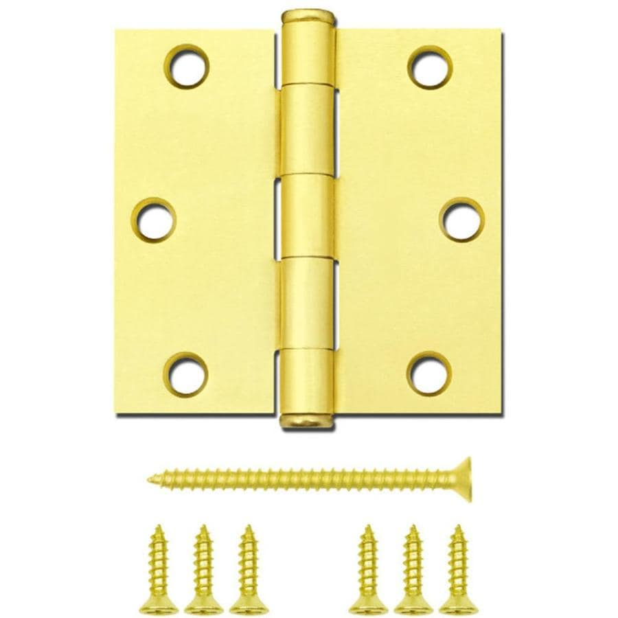 Gatehouse 3-in H Satin Brass Radius Interior Mortise Door Hinge