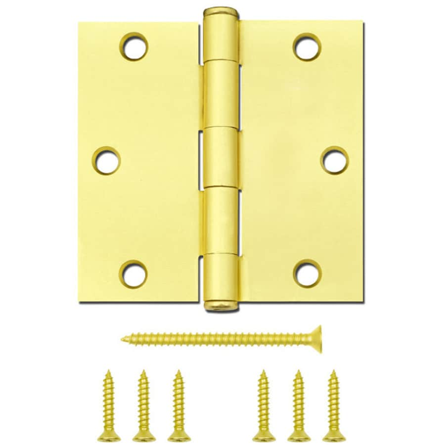 National Hardware 3.5-in H Satin Brass Radius Interior Mortise Door Hinge