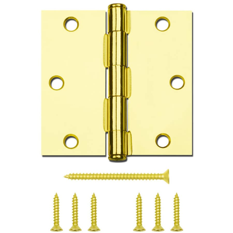 National Hardware 3.5-in H Polished Brass Radius Interior Mortise Door Hinge