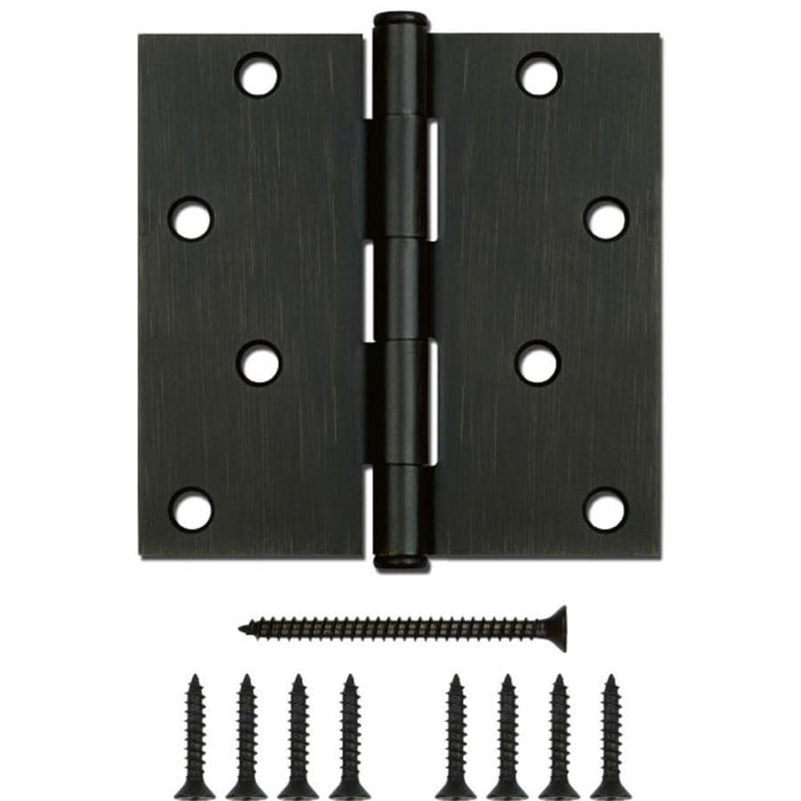 Gatehouse 4-in H Oil-Rubbed Bronze Radius Interior/Exterior Mortise Door Hinge