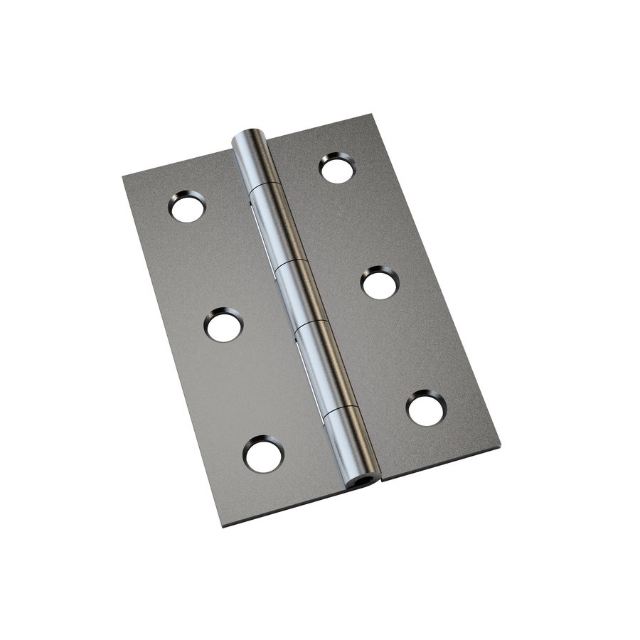 Gatehouse 2-Pack 2-in H Satin Nickel Interior Mortise Door Hinge