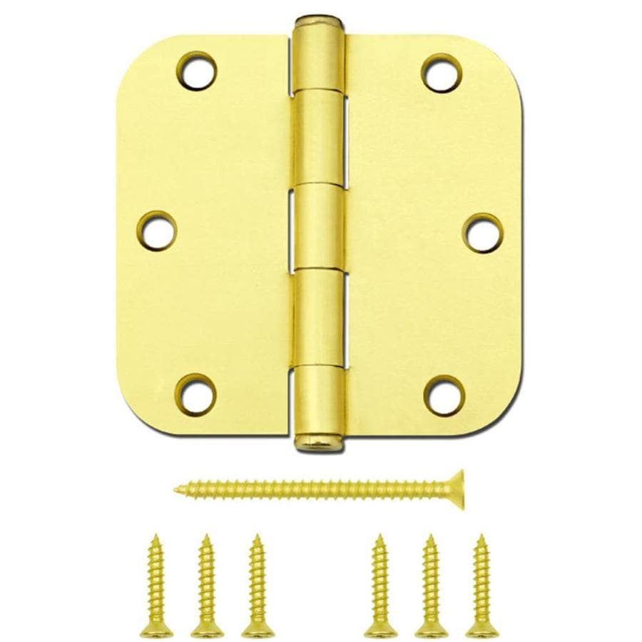 Gatehouse 12-Pack 3.5-in H Satin Brass Interior Mortise Door Hinge