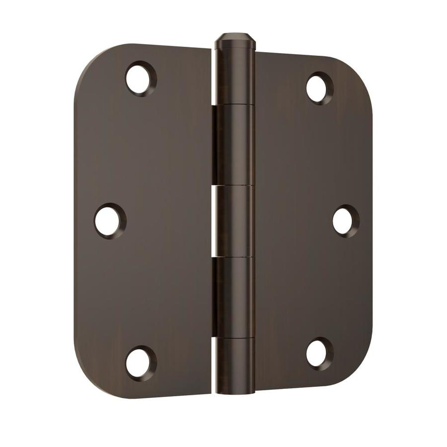 Gatehouse 12-Pack 3.5-in H Oil-Rubbed Bronze 5/8-in Radius Interior Mortise Door Hinge