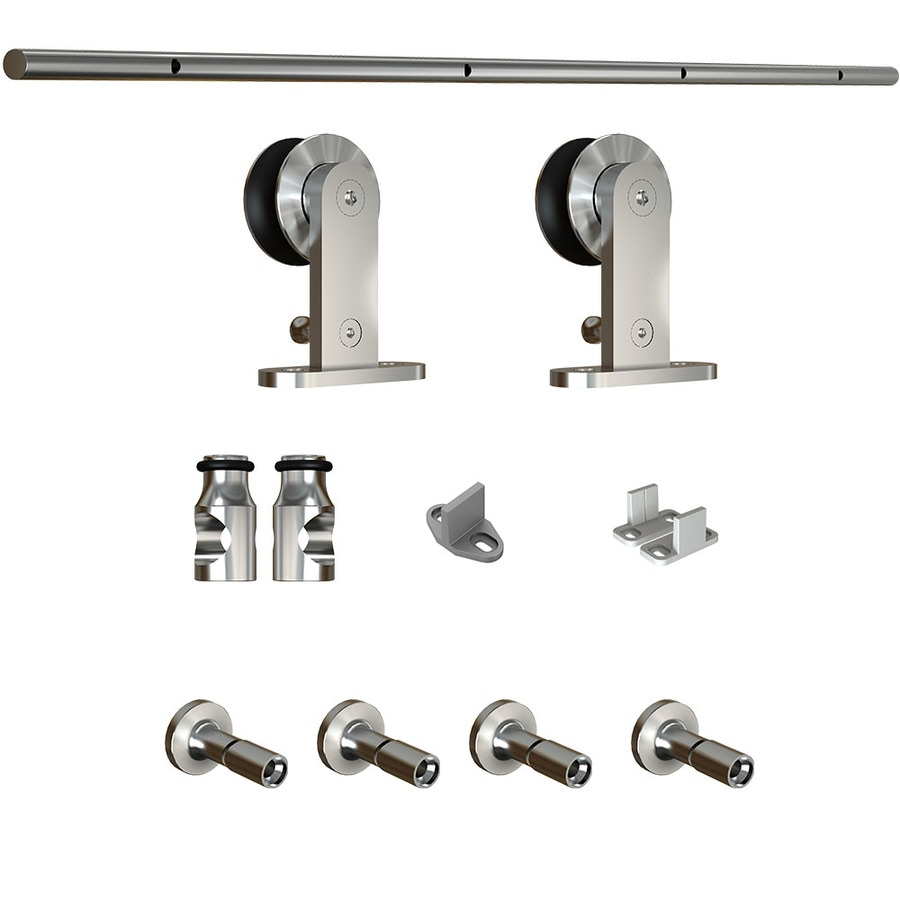 National Hardware 72-in Stainless Steel Top Mount Sliding Barn Door Kit