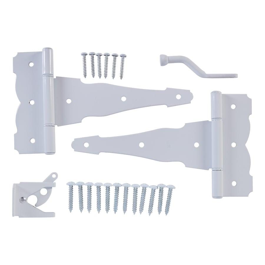 Stanley-National Hardware White Gate Hardware Kit