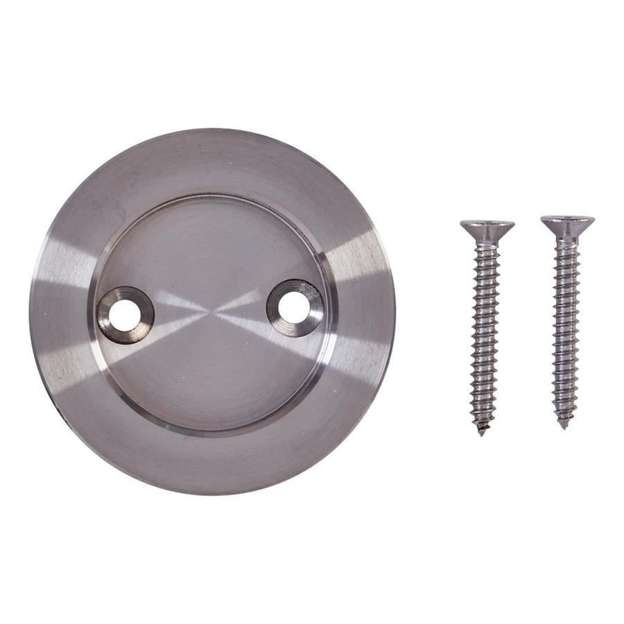 National Hardware 2.125-in Satin Nickel Pocket Door Pull