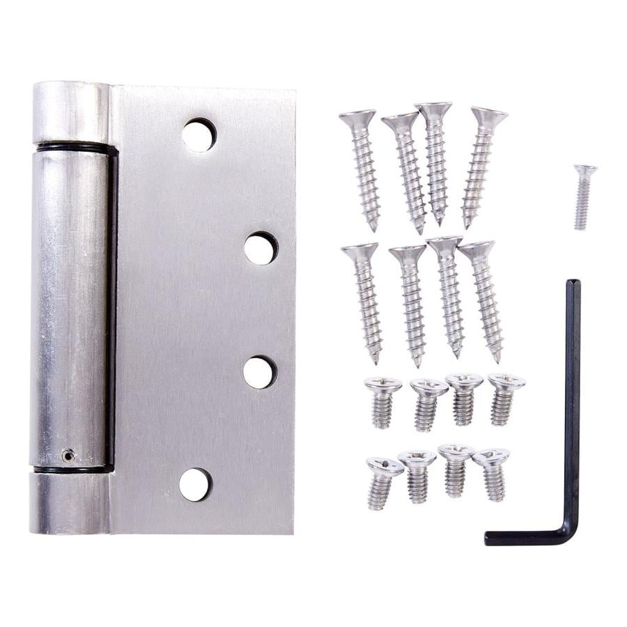 Shop national hardware 4 5 in h satin chrome radius exterior barrel door hinge at for Adjustable hinges for exterior doors