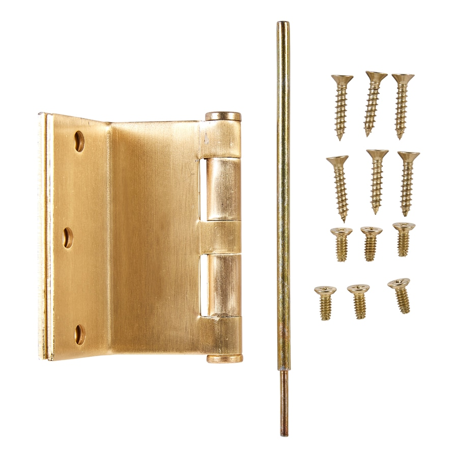 National Hardware 3.5-in H Polished Brass Radius Exterior Mortise Door Hinge