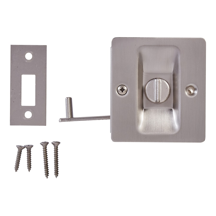 Shop pocket door hardware at lowes national hardware 275 in satin nickel pocket door pull vtopaller Gallery