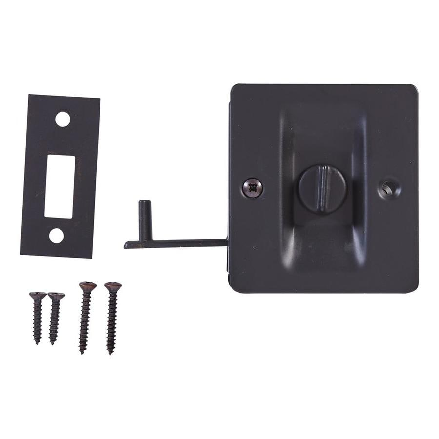 Shop pocket door hardware at lowes national hardware 275 in oil rubbed bronze pocket door pull vtopaller Gallery