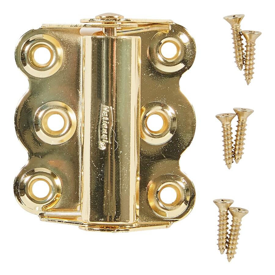 National Hardware 2-in H Polished Brass Radius Exterior Barrel Door Hinge