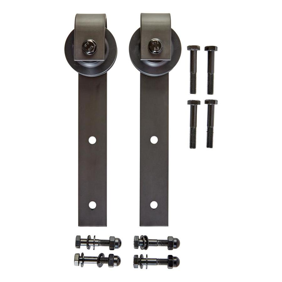 National Hardware Bronze Interior Top Mount Barn Door Kit