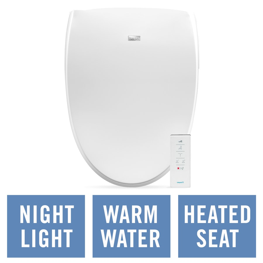 shop bio bidet plastic elongated heated bidet toilet seat at lowes