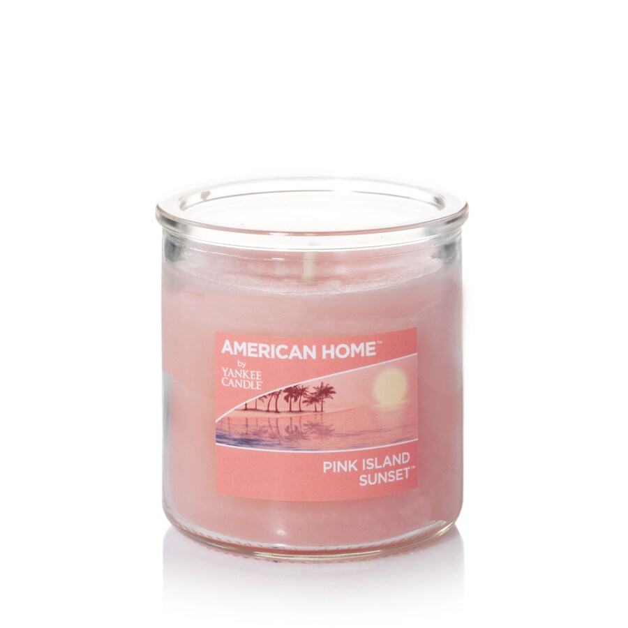 American Home 4-oz Pink Island Sunset Any Occasion Jar Candle