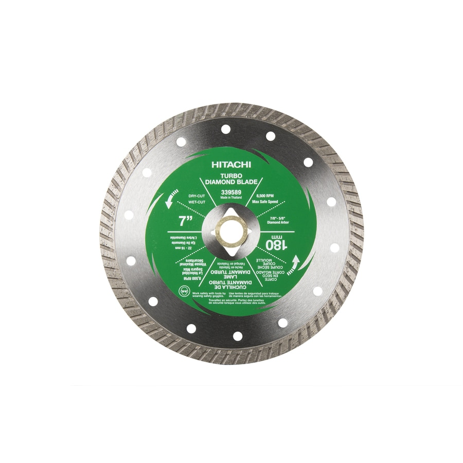 Hitachi 7-in 0-Tooth Wet or Dry Turbo Diamond Circular Saw Blade