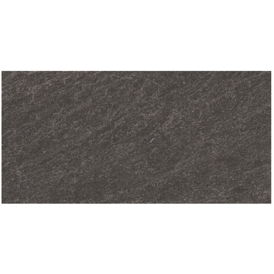 Shop Style Selections Galvano Charcoal Porcelain Granite Floor And - 24 by 24 granite tile