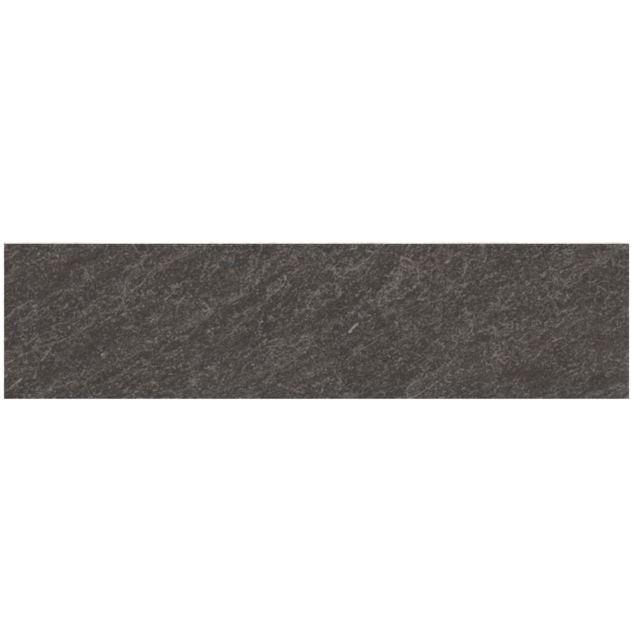 Style Selections Galvano Charcoal Porcelain Granite Bullnose Tile Common 3 In X 12