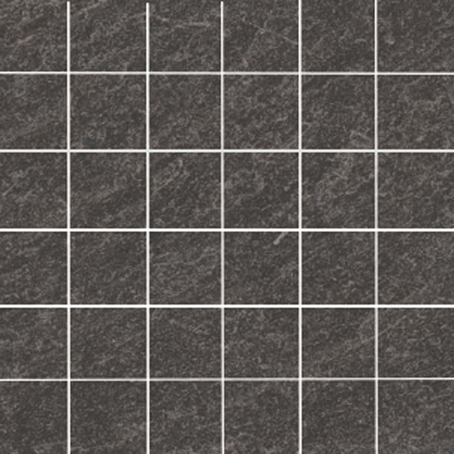 Shop accent trim tile at lowes style selections galvano charcoal porcelain granite border tile common 12 in x 12 dailygadgetfo Gallery