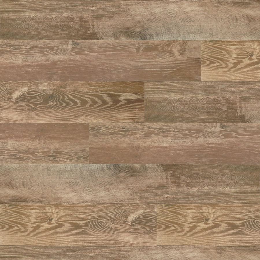 Shop tile at lowes style selections natural timber cinnamon wood look porcelain floor and wall tile common 8 dailygadgetfo Gallery