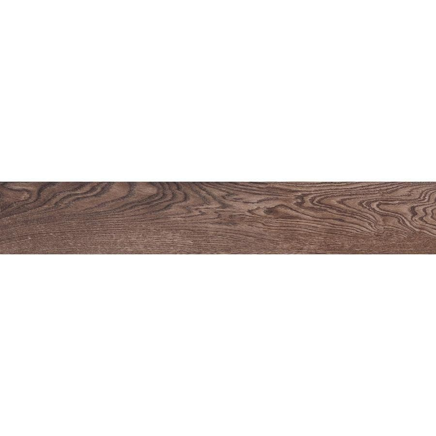 Shop wood look tile at lowes style selections natural timber chestnut wood look porcelain floor and wall tile common 8 dailygadgetfo Images