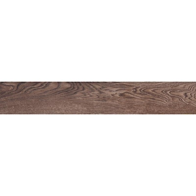 Natural Timber Chestnut 8-in x 48-in Porcelain Wood Look Tile (Common: 8-in  x 48-in