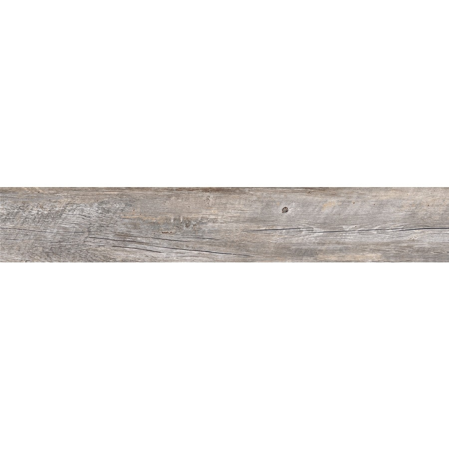 Style Selections Natural Timber Ash Wood Look Porcelain Floor And Wall Tile  (Common: 8