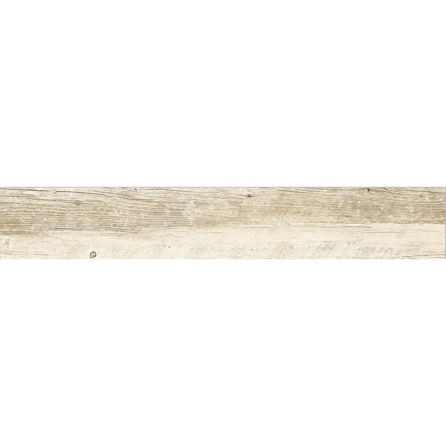 Style Selections Natural Timber Whitewash Wood Look Porcelain Floor and Wall Tile (Common: 6-in x 36-in; Actual: 5.79-in x 35.96-in)