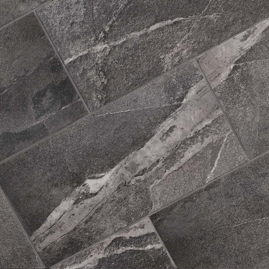 Shop Style Selections Briarmist Grey Porcelain Granite Floor And - 24 by 24 granite tile
