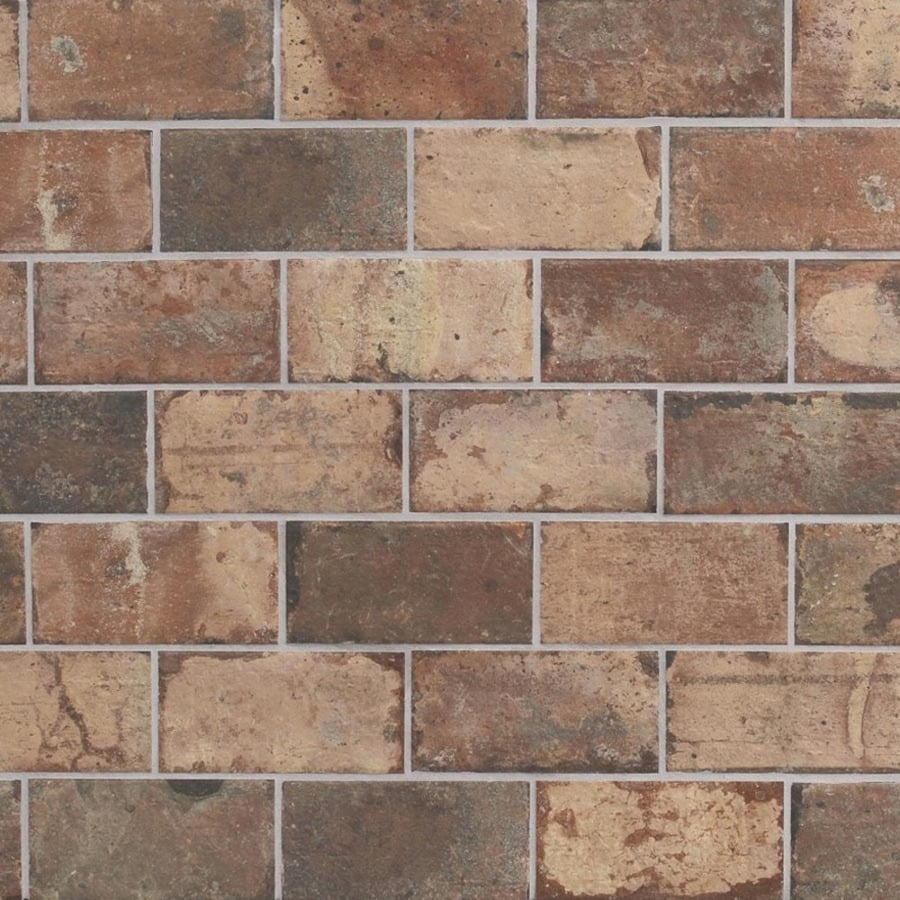 Shop Style Selections Broadmeadow Brick Porcelain Floor and Wall ...