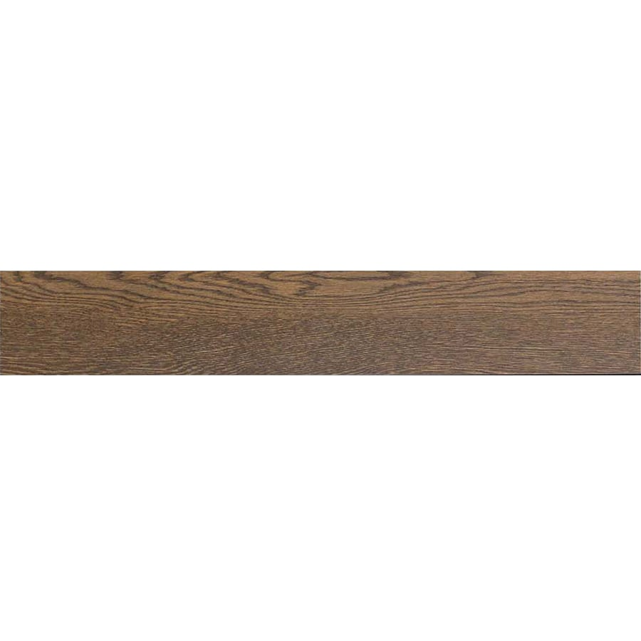 Style Selections Outpost Walnut Wood Look Porcelain Floor and Wall Tile (Common: 6-in x 36-in; Actual: 35.96-in x 5.79-in)