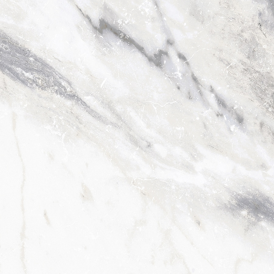 Style Selections Sovereign Stone Pearl Porcelain Marble Floor and Wall Tile (Common: 12-in x 12-in; Actual: 11.85-in x 11.85-in)