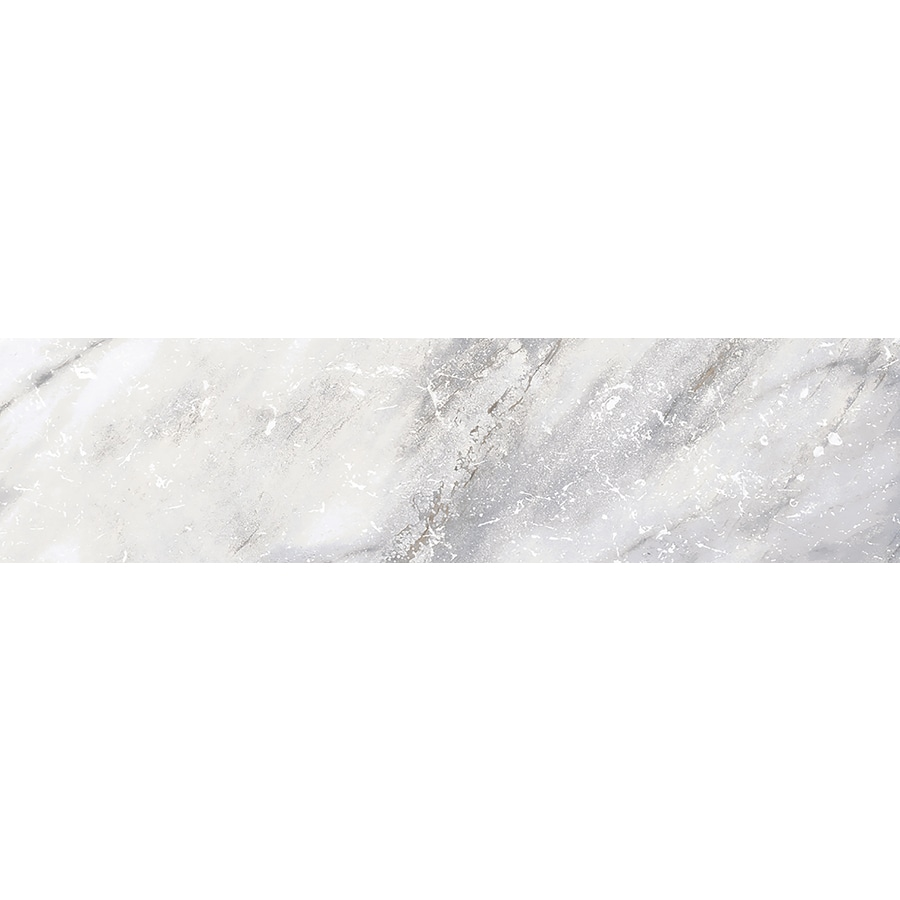 Style Selections Sovereign Stone Pearl Porcelain Marble Bullnose Tile (Common: 3-in x 12-in; Actual: 2.82-in x 11.85-in)