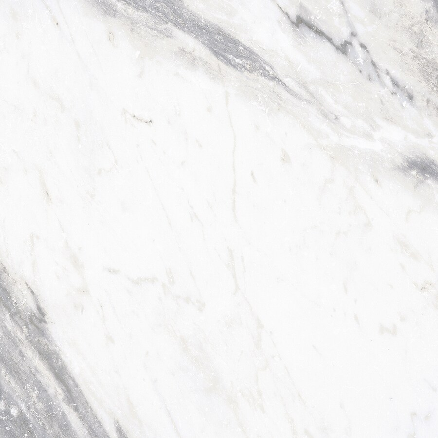 Style Selections Sovereign Stone Pearl Porcelain Marble Floor and Wall Tile (Common: 24-in x 24-in; Actual: 23.75-in x 23.75-in)