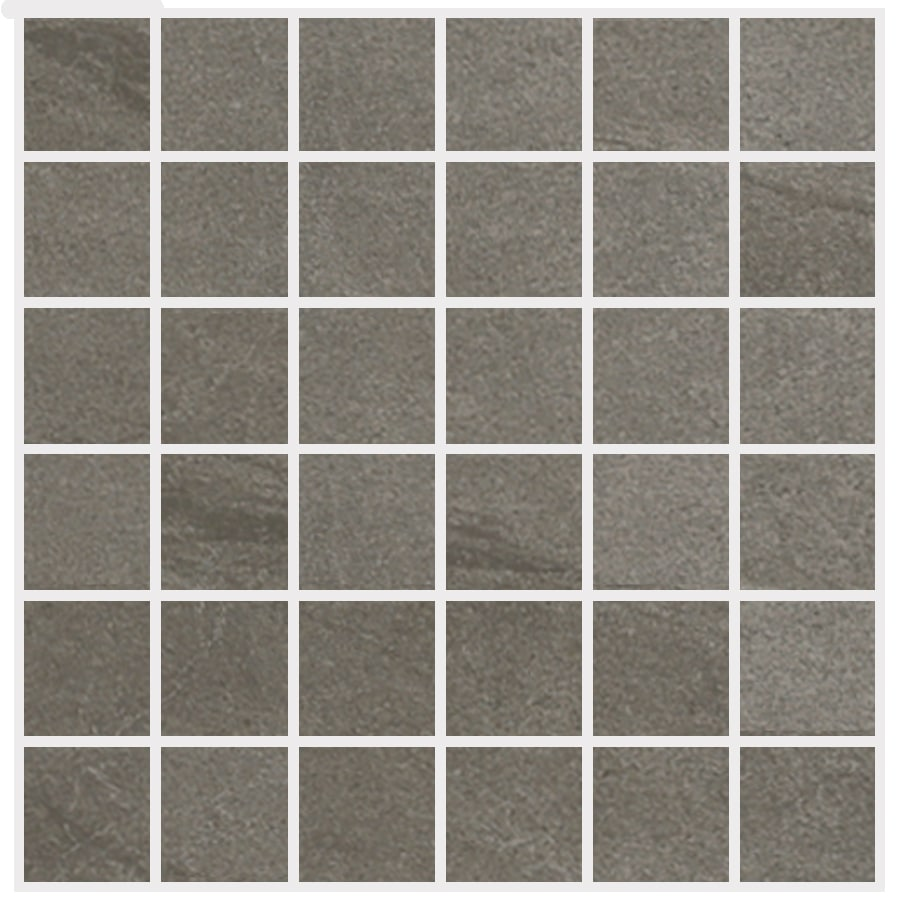 Style Selections Dover Valley Titanium Uniform Squares Mosaic Porcelain Floor and Wall Tile (Common: 12-in x 12-in; Actual: 11.85-in x 11.85-in)