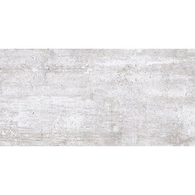 Style Selections Cornell Ivory 12-in x 24-in Glazed Porcelain Travertine Marble Look Floor and Wall Tile