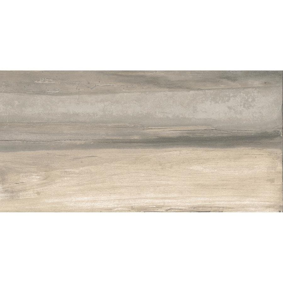 Style Selections Everett Ash Porcelain Floor and Wall Tile (Common: 12-in x 24-in; Actual: 23.85-in x 11.85-in)