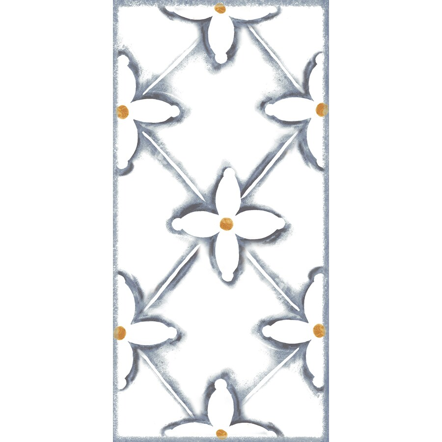 American Villa American Traditions Porcelain Wall Tile (Common: 4-in X 8-in; Actual: 7.87-in x 3.91-in)