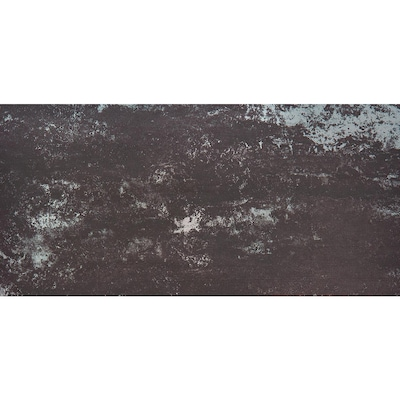 Supernatural 8 Pack Dark Steel 12 In X 24 In Porcelain Floor Tile Common 12 In X 24 In Actual 23 85 In X 11 85 In