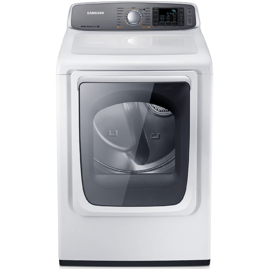 Samsung 7.4-cu ft Gas Dryer with Steam Cycle (White)