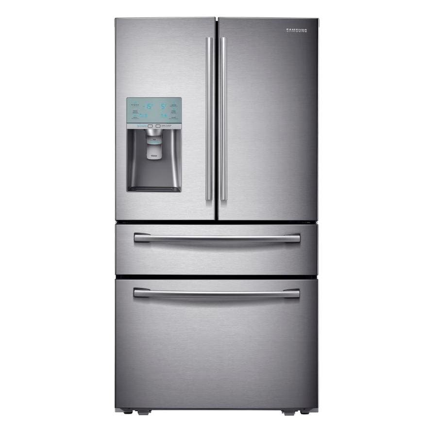 Samsung 29.1-cu ft 4-Door French Door Refrigerator with Ice Maker (Stainless Steel) ENERGY STAR